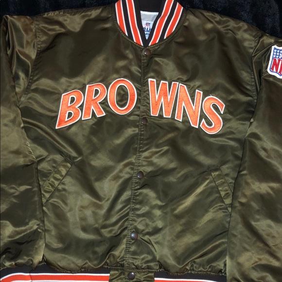 competitive price 6fb69 065cb Vintage NFL Cleveland browns satin starter jacket